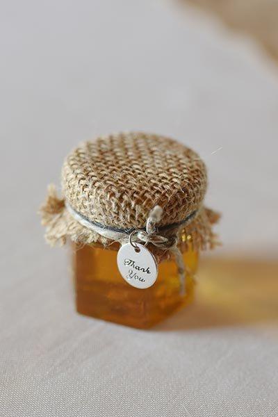 słoik miodu dla gości weselnych