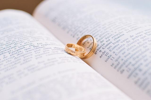 sakramentalne tak, obrączki ślubne