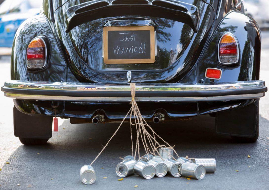 ślub - ozdoby na samochód